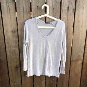 Brandy Melville Women's Gray Long-sleeve Sweater